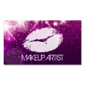 makeup artist business card examples and ideas